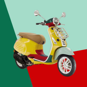 The Vespa Sean Wotherspoon has arrived at the Piaggio Museum!